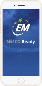 A picture of the Wilco Ready App home screent