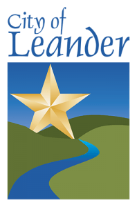 The Leander City Logo, a Texas Star over some hills and a river.