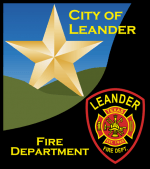 The Leander Fire Department Patch coupled with the Leander City Logo